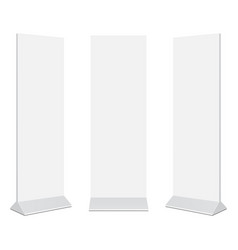 set of outdoor advertising stand banners mockups vector image