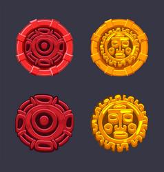set signs symbol aztecs maya culture vector image