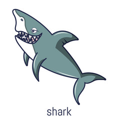 shark icon cartoon style vector image