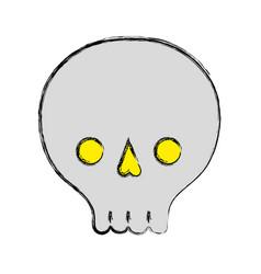 Skull danger symbol to caution alert vector