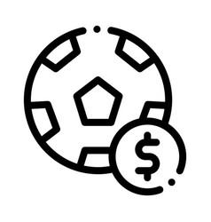 Soccer ball betting and gambling icon vector