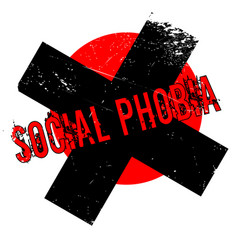 social phobia rubber stamp vector image