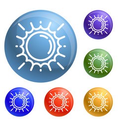 space sun icons set vector image