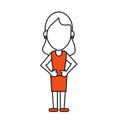 Standing woman design vector