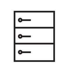 Thin line server icon vector