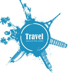 Travel design element vector