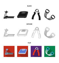 Treadmill scales expander and other equipment vector