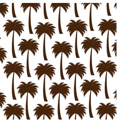Tree palms pattern background vector