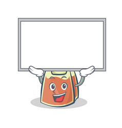 Up board tea bag character cartoon vector