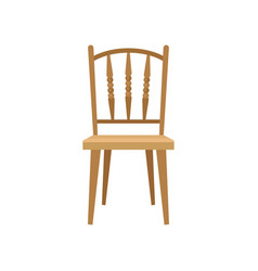 wooden chair design element for home interior vector image