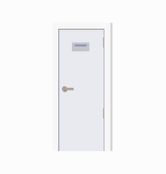 closeup of white door and sign vector image