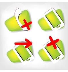 Phone web icon vector image