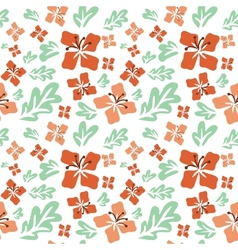 Tropical summer flowers seamless pattern vector image