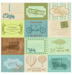 Design Elements - Vintage Transportation vector image vector image