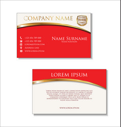 elegant business card design template 02 vector image vector image