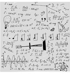 Physics blackboard image vector image vector image