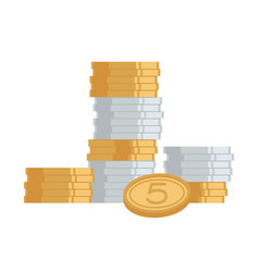 stack of coins money icon vector image vector image