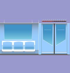 subway interior vector image vector image