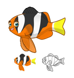 Yellowtail Clownfish vector image