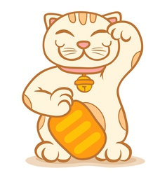 Cat lucky vector image vector image