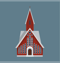cathedral catholic churche temple building vector image