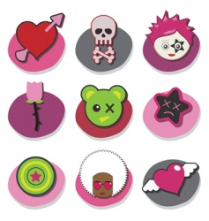 kids emo icons vector image