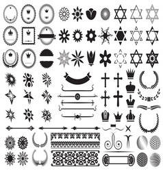 Big set of design elements1 resize vector image