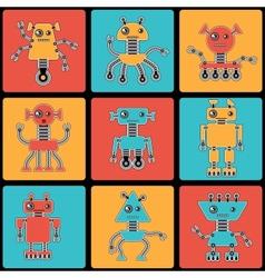 Cartoon robots seamless pattern vector image vector image