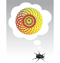 dream of the beetle vector image