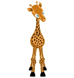 Funny Cartoon Giraffe vector image