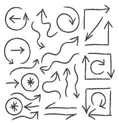 Hand drawn arrows for info graphic design vector