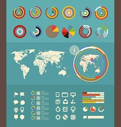 Infographic elements clip-art Flat design elements vector image vector image
