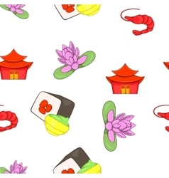 Stay in China pattern cartoon style vector image vector image