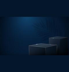 3d luxury boxes podium display vector