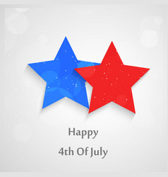 4th of july usa independence day text vector