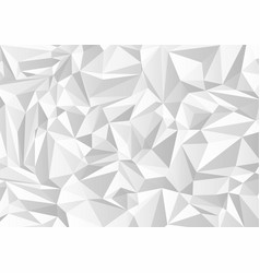 abstract gray and white triangle shapes vector image