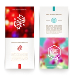 abstract vertical banners with hipster emblems vector image