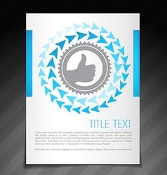 Achievement flyer brochure poster template design vector