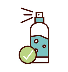 Alcohol cleaning product prevent spread covid19 vector