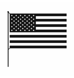American flag icon simple style vector