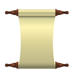 an empty scroll is an unfolded scroll unrolled vector image