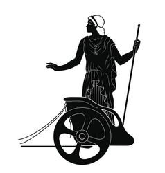 Ancient greek woman vector