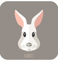 Animal Portrait With Flat Design Rabbit vector