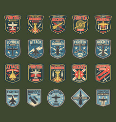 Army chevrons stripes for fighter squadron vector