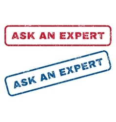 Ask An Expert Rubber Stamps vector