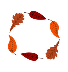 Autumn leaves different trees in form a vector
