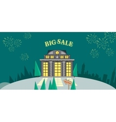 Big Sale Word Salute Glowing Shop vector