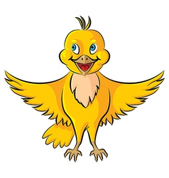 Bird yellow vector