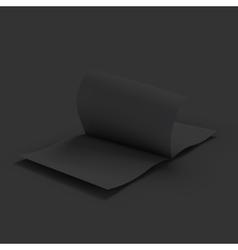 Black blank magazine spread Business mockup vector