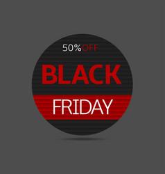 black friday label vector image